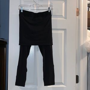 Lululemon athletica pants with attached skirt